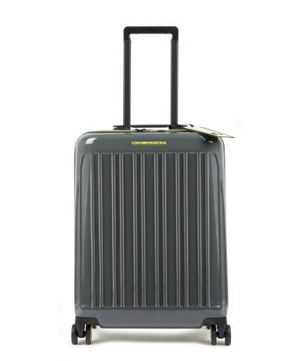 Piquadro Trolley cabina rigido ultra slim a quattro ruote Seeker grigio/giallo Tersicore Crotone