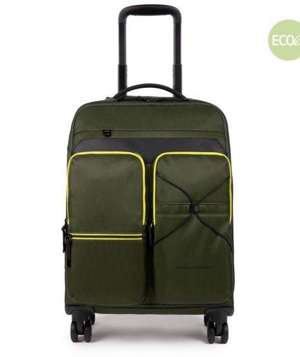 Piquadro Trolley cabina ultra slim a quattro ruote Otello verde Tersicore Crotone