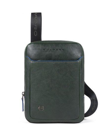 Piquadro Borsello per iPad® MINI in pelle Blue Square Special verde Tersicore Crotone