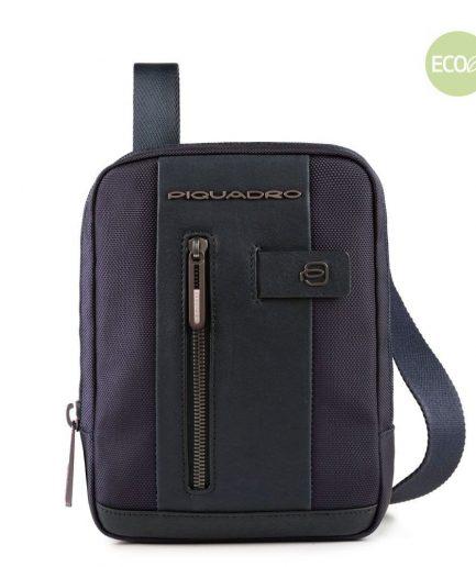 Piquadro Borsello porta iPad®mini in tessuto riciclato Brief 2 blu Tersicore Crotone