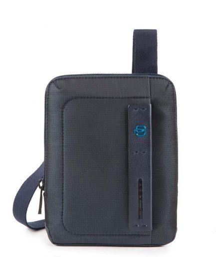 Piquadro Borsello organizzato con scomparto porta iPad®mini P16 blu Tersicore Crotone