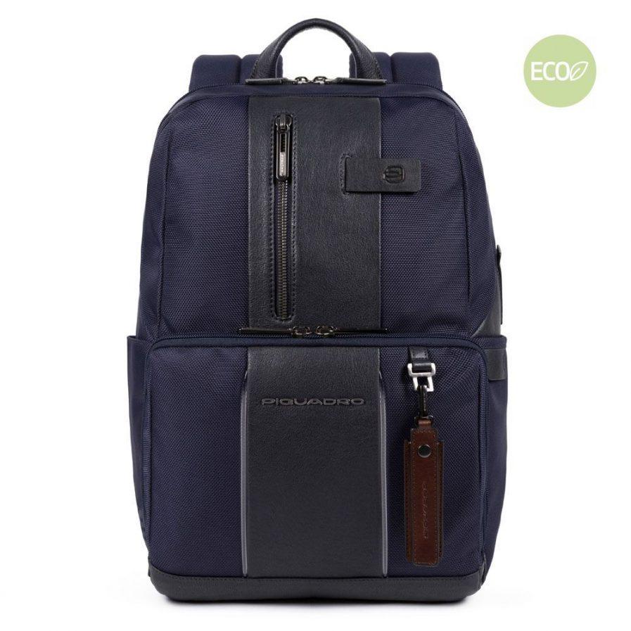 Piquadro Zaino porta PC e porta iPad® in tessuto riciclato BagMotic blu Tersicore Crotone