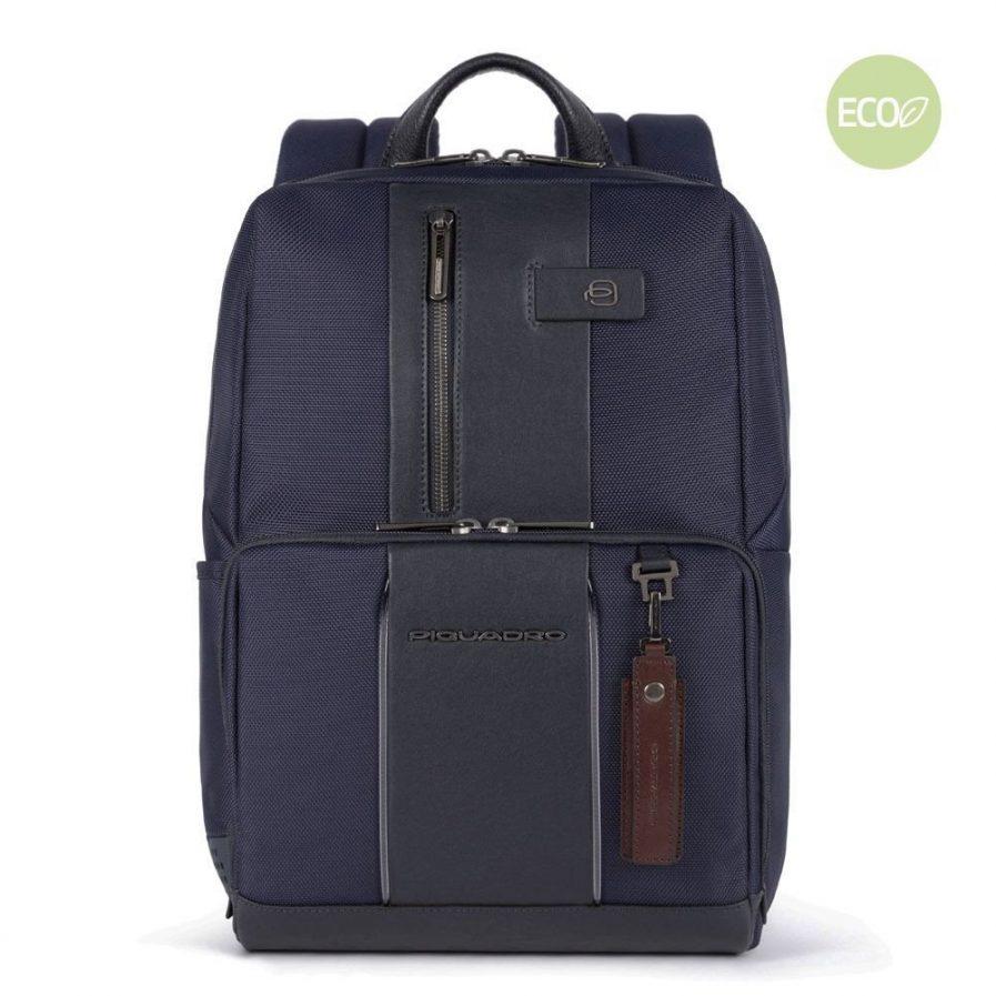 Piquadro Zaino porta PC e porta iPad® in tessuto riciclato Brief 2 blu Tersicore Crotone