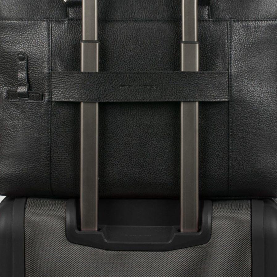 Piquadro Zainetto porta computer con scomparto imbottito porta iPad®Pro e porta iPad®mini Modus nero Tersicore Crotone