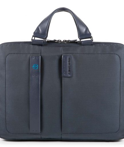 Piquadro Cartella a due manici porta computer e porta iPad® con porta bottiglia o porta ombrello P16 blu Tersicore Crotone
