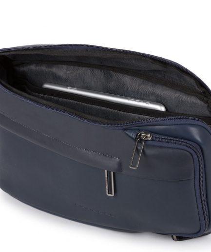 Piquadro Monospalla porta iPad®mini con Falstaff blu Tersicore Crotone