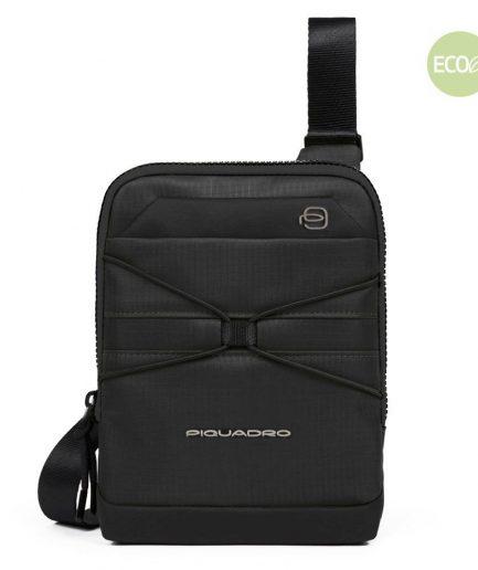 Piquadro Borsello porta iPad®mini in tessuto riciclato Otello nero Tersicore Crotone