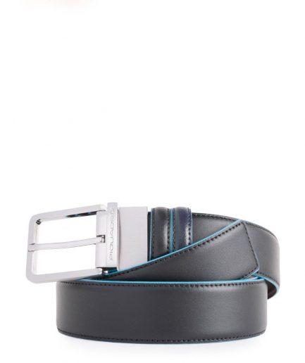 Cintura uomo reversibile con fibbia ad ardiglione nero/blu Blue Square Tersicore Crotone