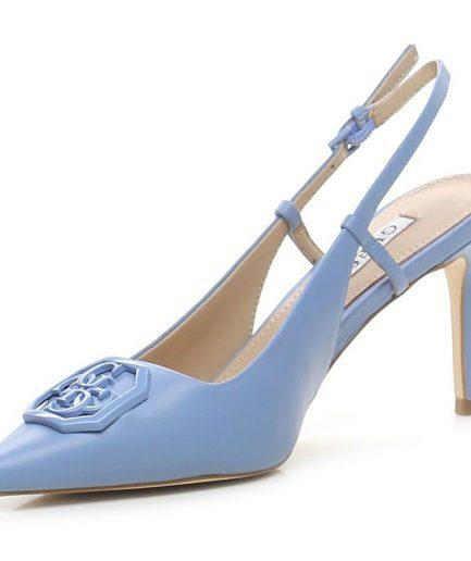 Guess sandalo Aleny vera pelle azzurro Tersicore Crotone