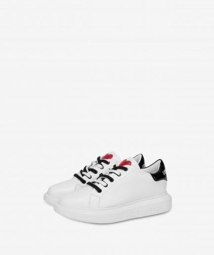 Love Moschino Sneaker in vitello Love Running