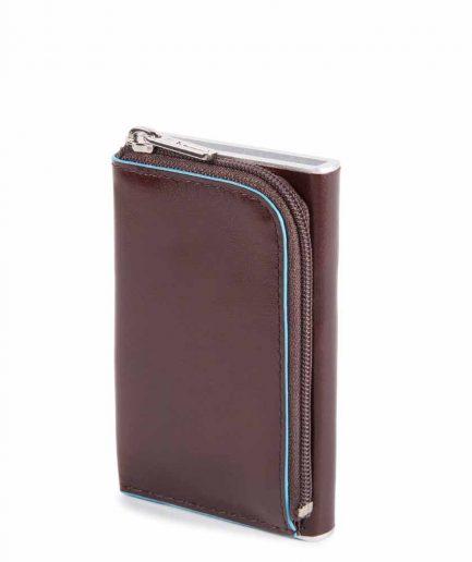 Piquadro Compact wallet per carte di credito con sliding sy Blue Square marrone Tersicore Crotone