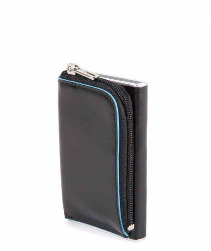 Piquadro Compact wallet per carte di credito con sliding sy Blue Square nero Tersicore Crotone