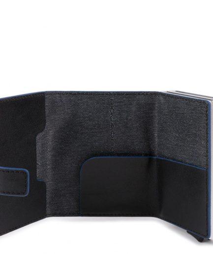 Piquadro Compact wallet doppio per carte di credito Collezione B2S nero Tersicore Crotone