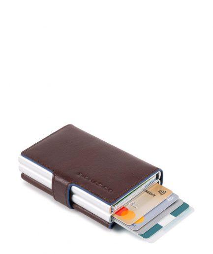 Piquadro Compact wallet doppio per carte di credito Collezione B2S marrone Tersicore Crotone