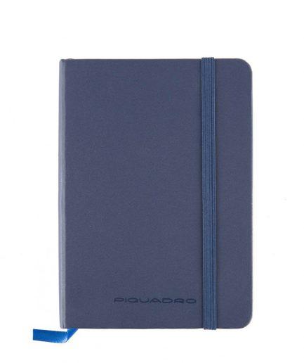 Piquadro Quaderno a righe formato A6 Stationery blu Tersicore Crotone