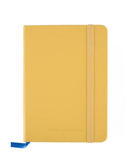 Piquadro Quaderno a righe formato A6 Stationery giallo Tersicore Crotone