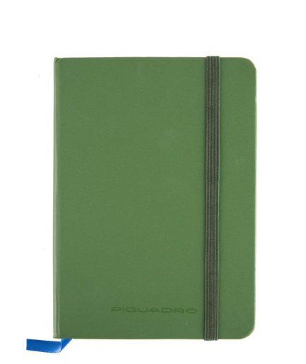 Piquadro Quaderno a righe formato A6 Stationery verde Tersicore Crotone