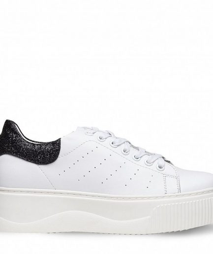 Cult Sneaker Donna Perry 3162 Low W Leather/Glitter/White/Black