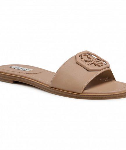 Guess Sandalo Botali Vera pelle con Logo 4G Nude