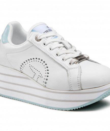 Trussardi Sneaker Erika in pelle con platform
