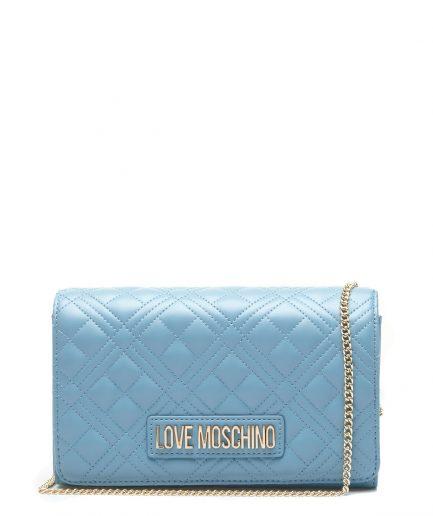 Love Moschino Tracollina Quilted Nappa Azzurro