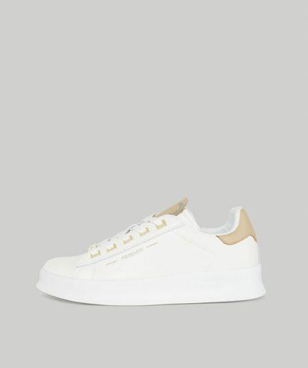Trussardi Sneaker Anemone in pelle con lettering