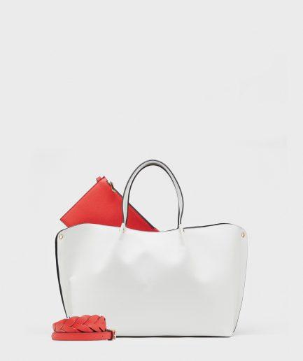 Manila Grace borsa shopping Genet bianca Tersicore Crotone