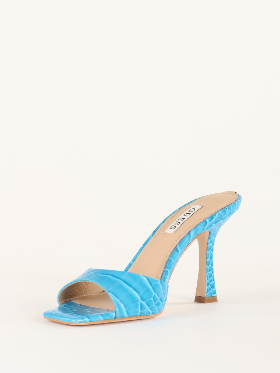 Guess Sandali in ecopelle con placca logo