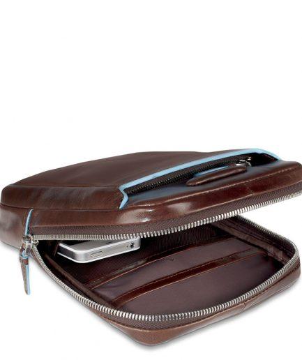 Piquadro Borsello organizzato porta iPad® Mini Blue Square Mogano
