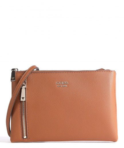 Guess tracolla Naya tasca frontale Cognac