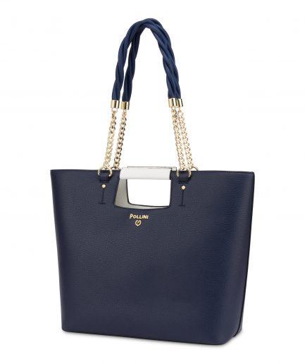 Pollini Shopping Tote bag Milos Blu