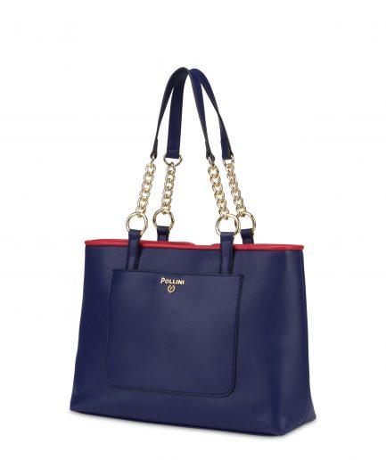 Pollini Shopping Tote bag Naxos Blu/Rosso/Bianco