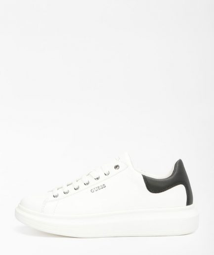 Guess Sneakers Uomo Salerno Vera Pelle Bianca/Nera